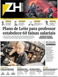 Capa do jornal Zero Hora 09/10/2019