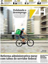 Capa do jornal Zero Hora 12/10/2019