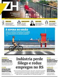 Capa do jornal Zero Hora 13/11/2019