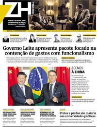 Capa Zero Hora 2019-11-14