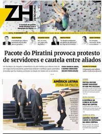Capa do jornal Zero Hora 15/11/2019