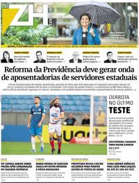 Capa Zero Hora 2019-10-17