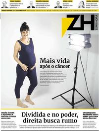 Capa do jornal Zero Hora 19/10/2019