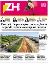 Capa do jornal Zero Hora 21/11/2019