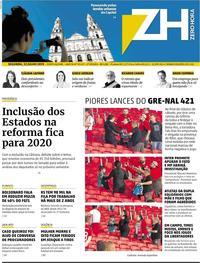 Capa Jornal Zero Hora