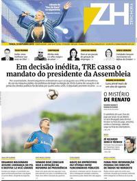 Capa do jornal Zero Hora 22/10/2019