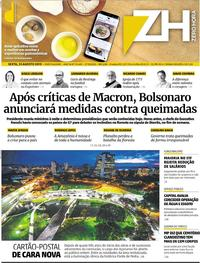 Capa Zero Hora 2019-08-23