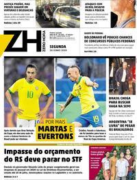 Capa Zero Hora 2019-06-24