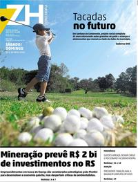 Capa Jornal Zero Hora 25/05/2019