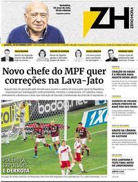 Capa do jornal Zero Hora 26/09/2019