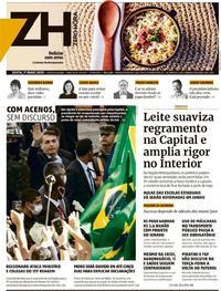Capa do jornal Zero Hora 01/05/2020