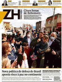 Capa do jornal Zero Hora 01/08/2020