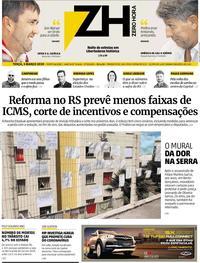 Capa do jornal Zero Hora 03/03/2020