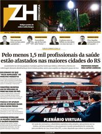 Capa do jornal Zero Hora 03/04/2020