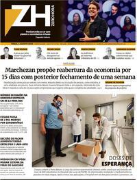 Capa do jornal Zero Hora 04/08/2020