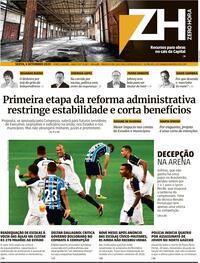 Capa do jornal Zero Hora 04/09/2020