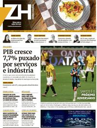 Capa do jornal Zero Hora 04/12/2020
