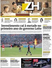 Capa do jornal Zero Hora 05/02/2020