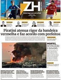 Capa do jornal Zero Hora 06/08/2020