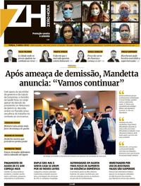 Capa do jornal Zero Hora 07/04/2020