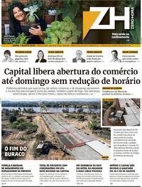 Capa do jornal Zero Hora 07/08/2020