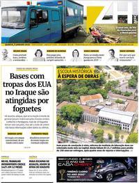 Capa do jornal Zero Hora 08/01/2020