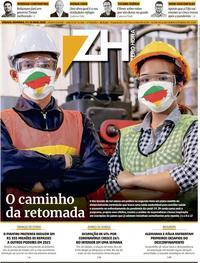 Capa do jornal Zero Hora 09/05/2020