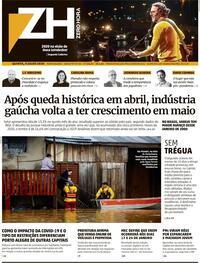 Capa do jornal Zero Hora 09/07/2020