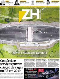 Capa do jornal Zero Hora 10/02/2020