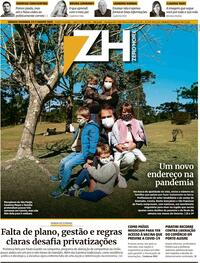 Capa do jornal Zero Hora 10/08/2020