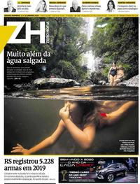Capa do jornal Zero Hora 11/01/2020