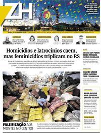 Capa do jornal Zero Hora 11/02/2020