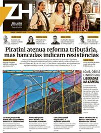 Capa do jornal Zero Hora 11/08/2020