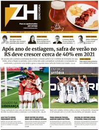 Capa do jornal Zero Hora 11/09/2020