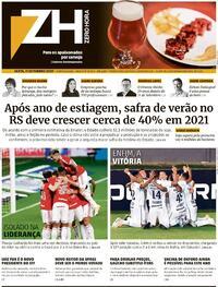 Capa do jornal Zero Hora 12/09/2020