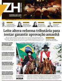Capa do jornal Zero Hora 15/09/2020