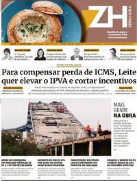 Capa do jornal Zero Hora 18/07/2020