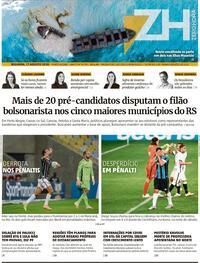 Capa do jornal Zero Hora 18/08/2020