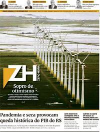 Capa do jornal Zero Hora 19/09/2020