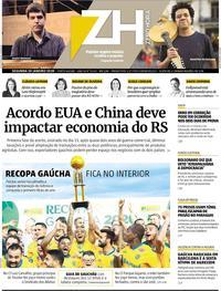Capa Zero Hora 2020-01-20
