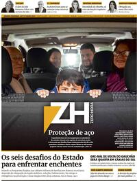 Capa do jornal Zero Hora 20/07/2020