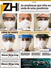 Capa do jornal Zero Hora 21/03/2020
