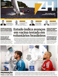 Capa do jornal Zero Hora 22/07/2020