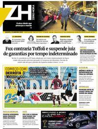 Capa do jornal Zero Hora 23/01/2020