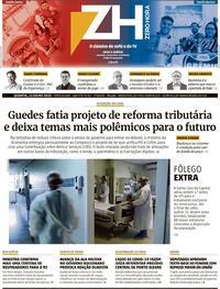 Capa do jornal Zero Hora 23/07/2020