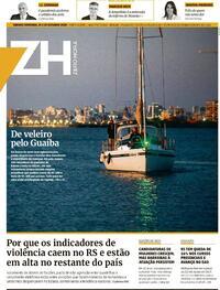 Capa do jornal Zero Hora 24/10/2020