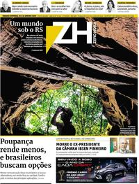 Capa do jornal Zero Hora 25/01/2020