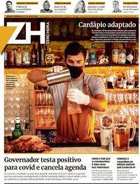 Capa do jornal Zero Hora 25/07/2020