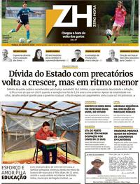 Capa do jornal Zero Hora 26/08/2020