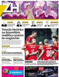 Capa do jornal Zero Hora 30/01/2020